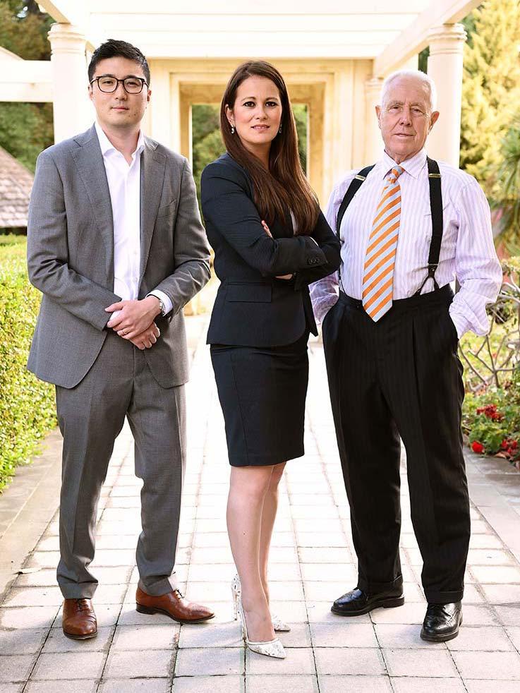 Principal Investor Mohan Du, CEO Emma Yee, and Chairman Peter Rowland