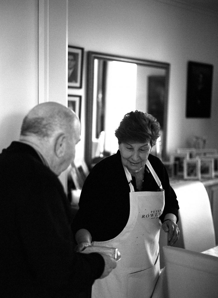 Peter Rowland Nonnas of Melbourne - Mary Calombaris and her husband at home