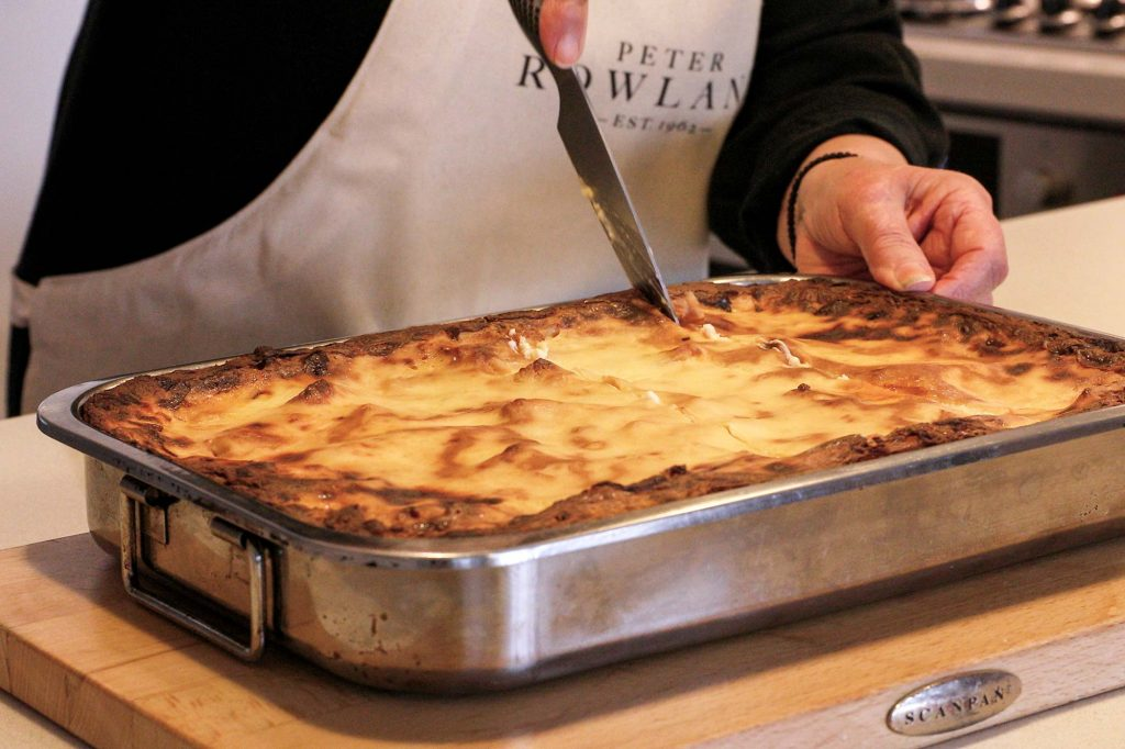Peter Rowland Nonnas of Melbourne - Mary Calombaris Cooking Pastitsio