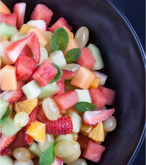 Fruit Salad prepared as part of our Breakfast Menu