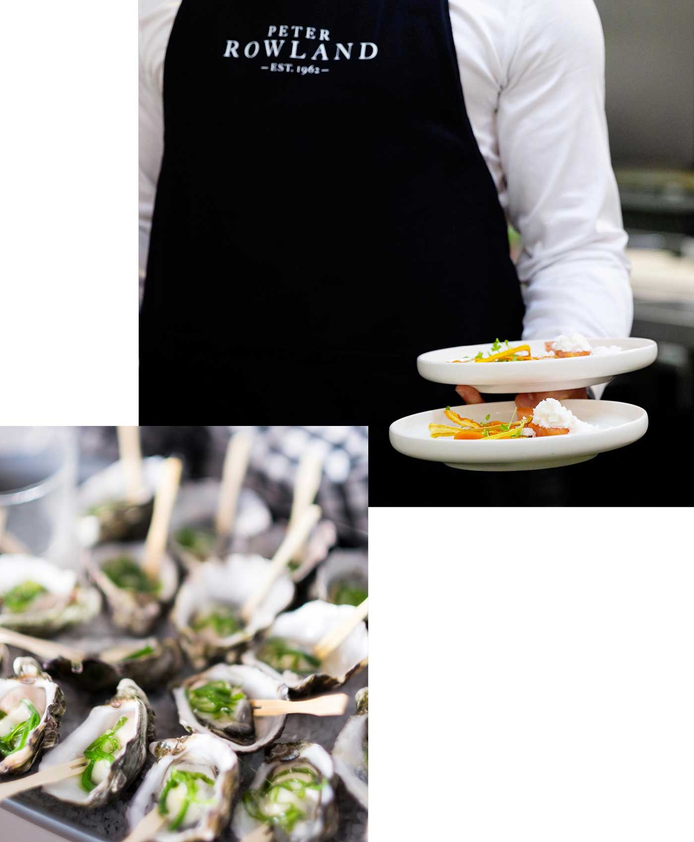 Oysters delivered with our catering services