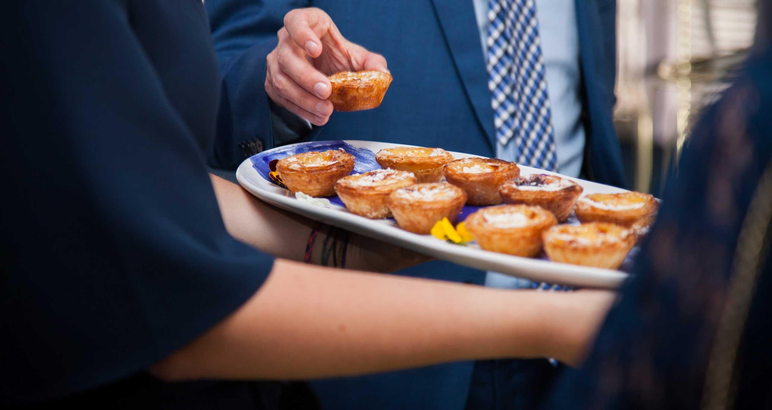 Mini Quiches prepared for your corporate event