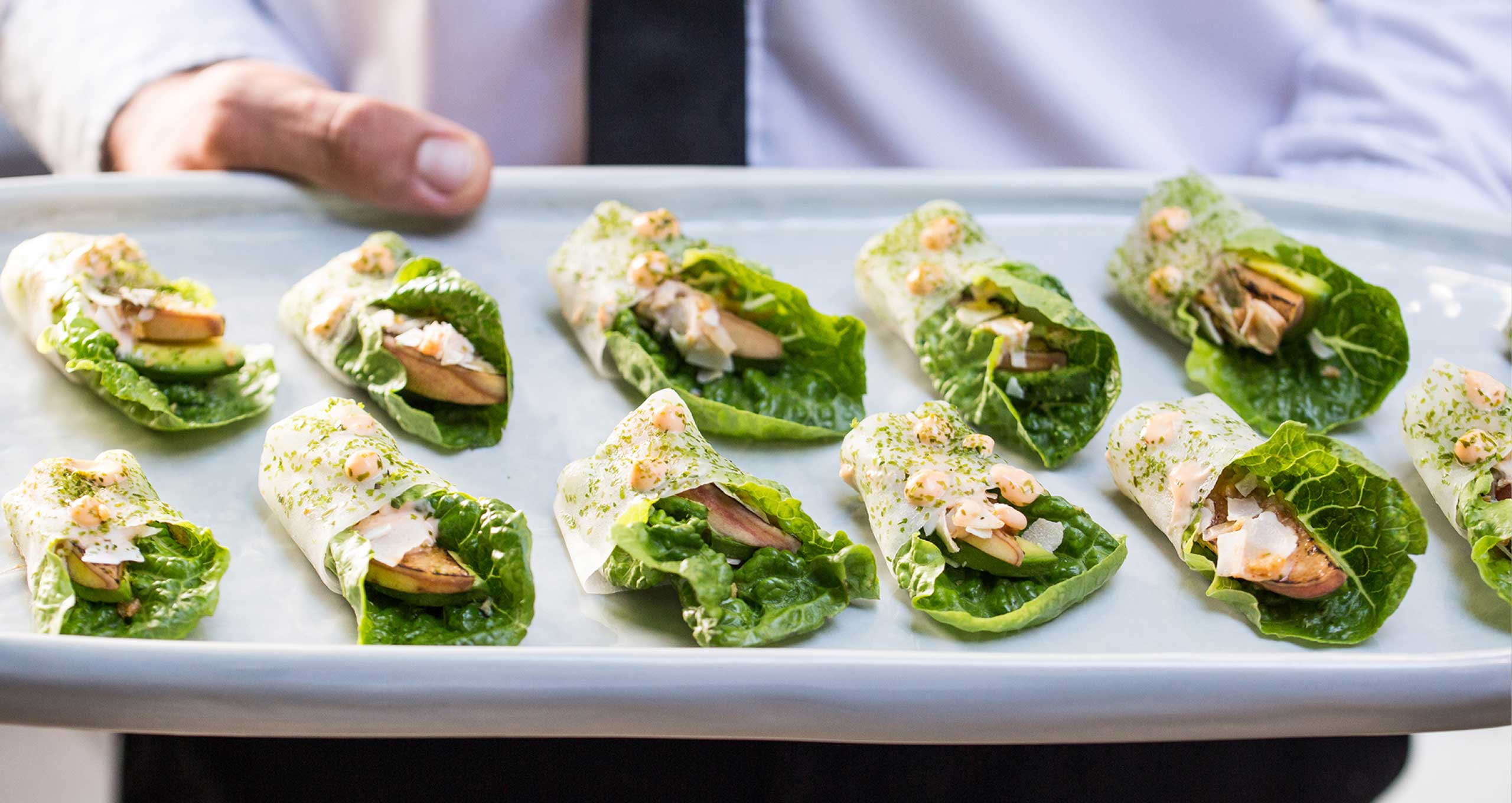 Miniature lettuce wrap Appetisers