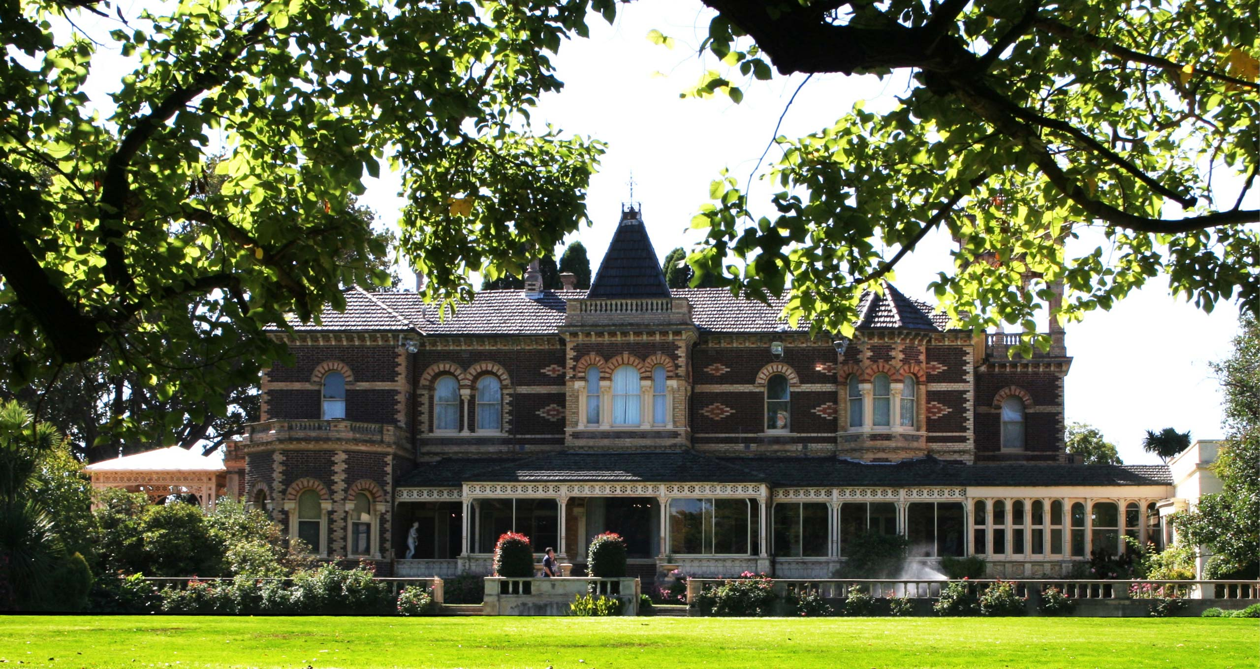 Rippon Lea House & Gardens Melbourne exterior with lawn Peter Rowland Venue