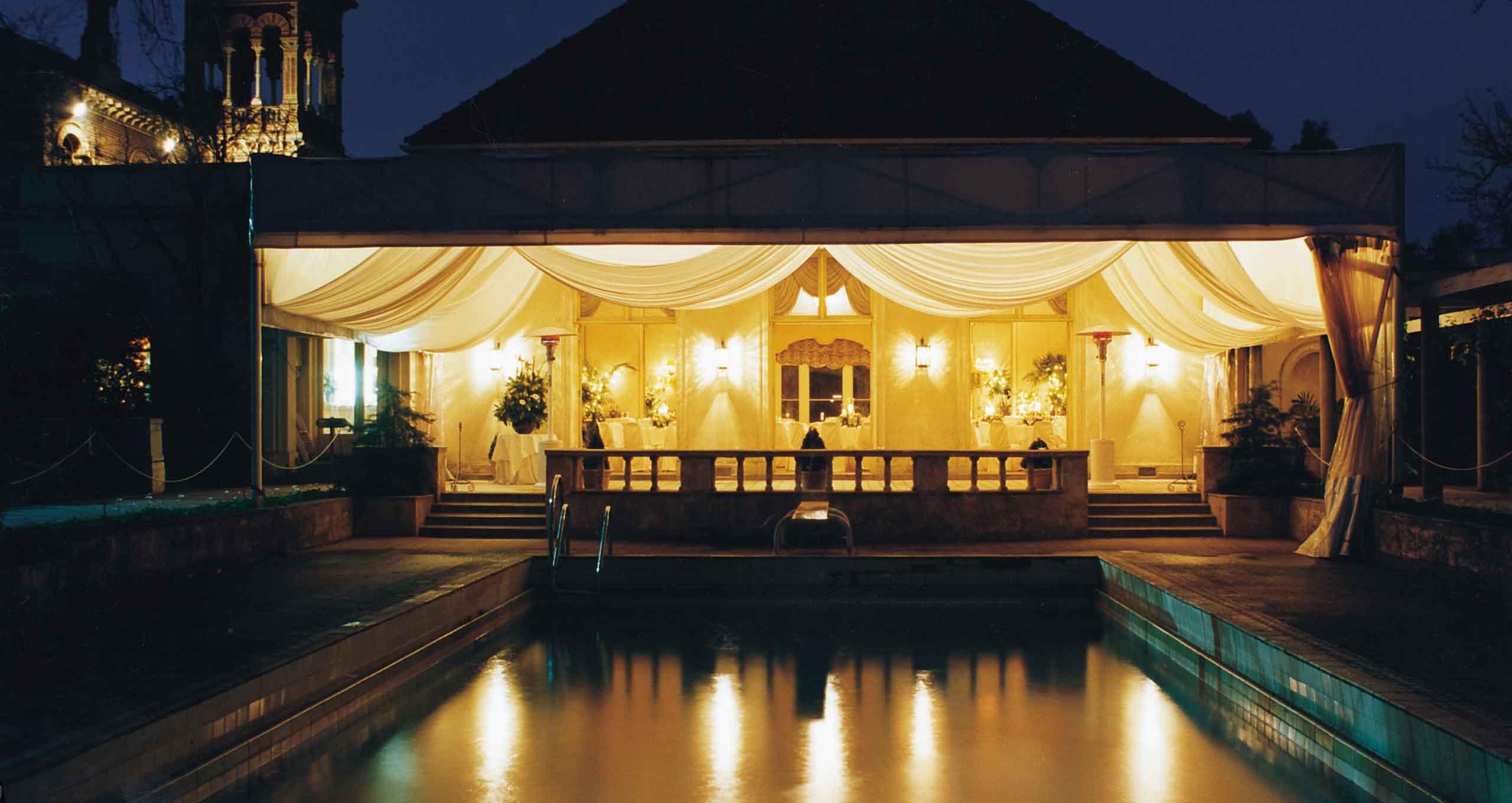 Rippon Lea House & Gardens pool exterior Melbourne Peter Rowland Venue