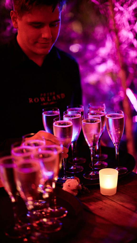 Peter Rowland White Night Champagne  Drinks Catering and Events