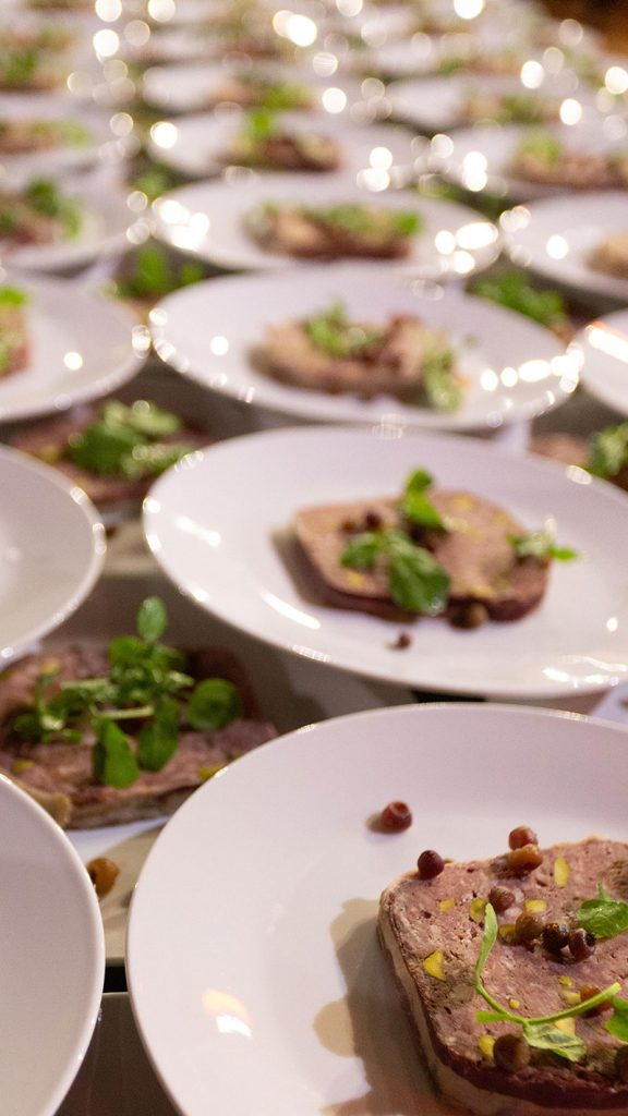 Peter Rowland White Night Entree Plate Catering and Events
