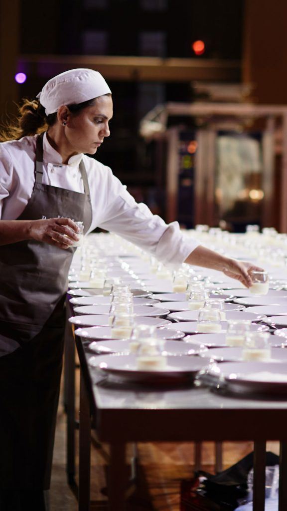 Peter Rowland White Night Catering and Events Chefs Plating