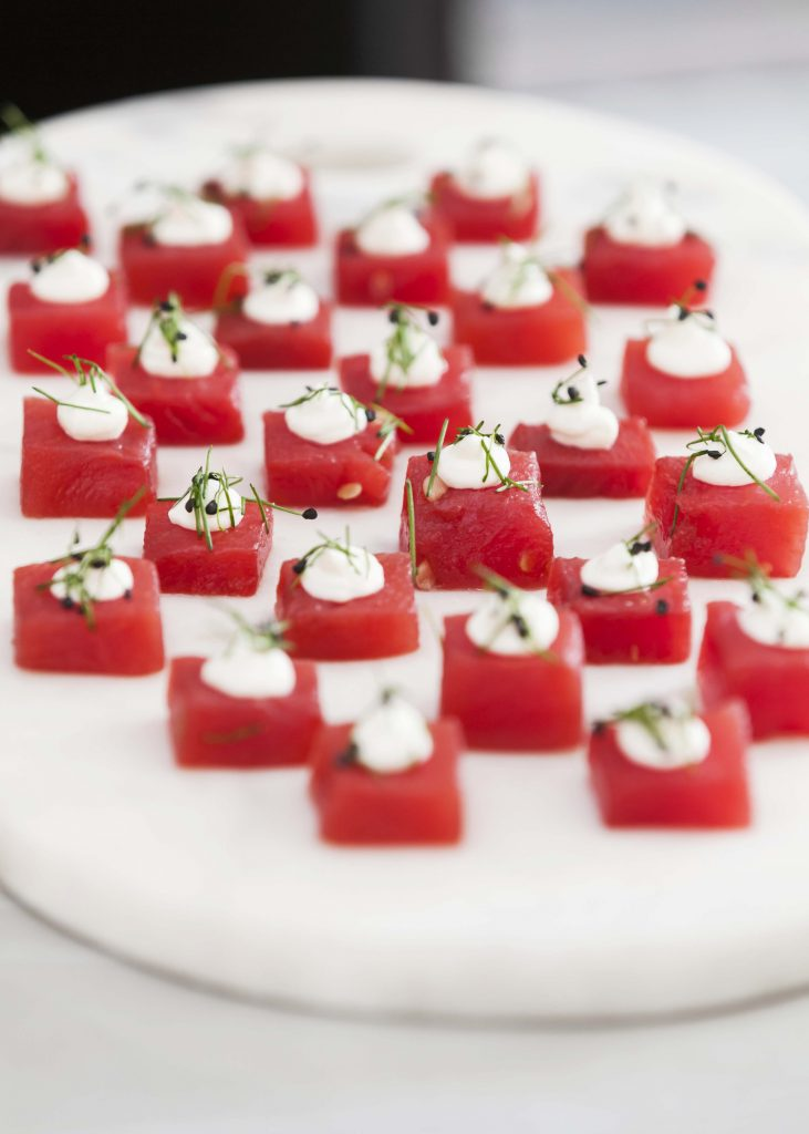 Peter Rowland Carparks Catering Watermelon Canape