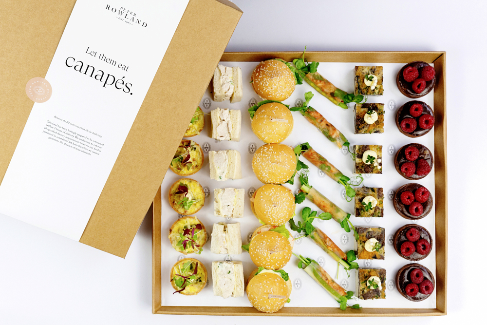 Peter Rowland Spring Racing Delivered Canape Boxes