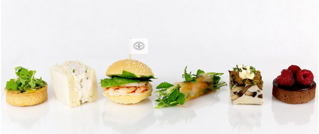 Peter Rowland row of Delivered Spring Canapes