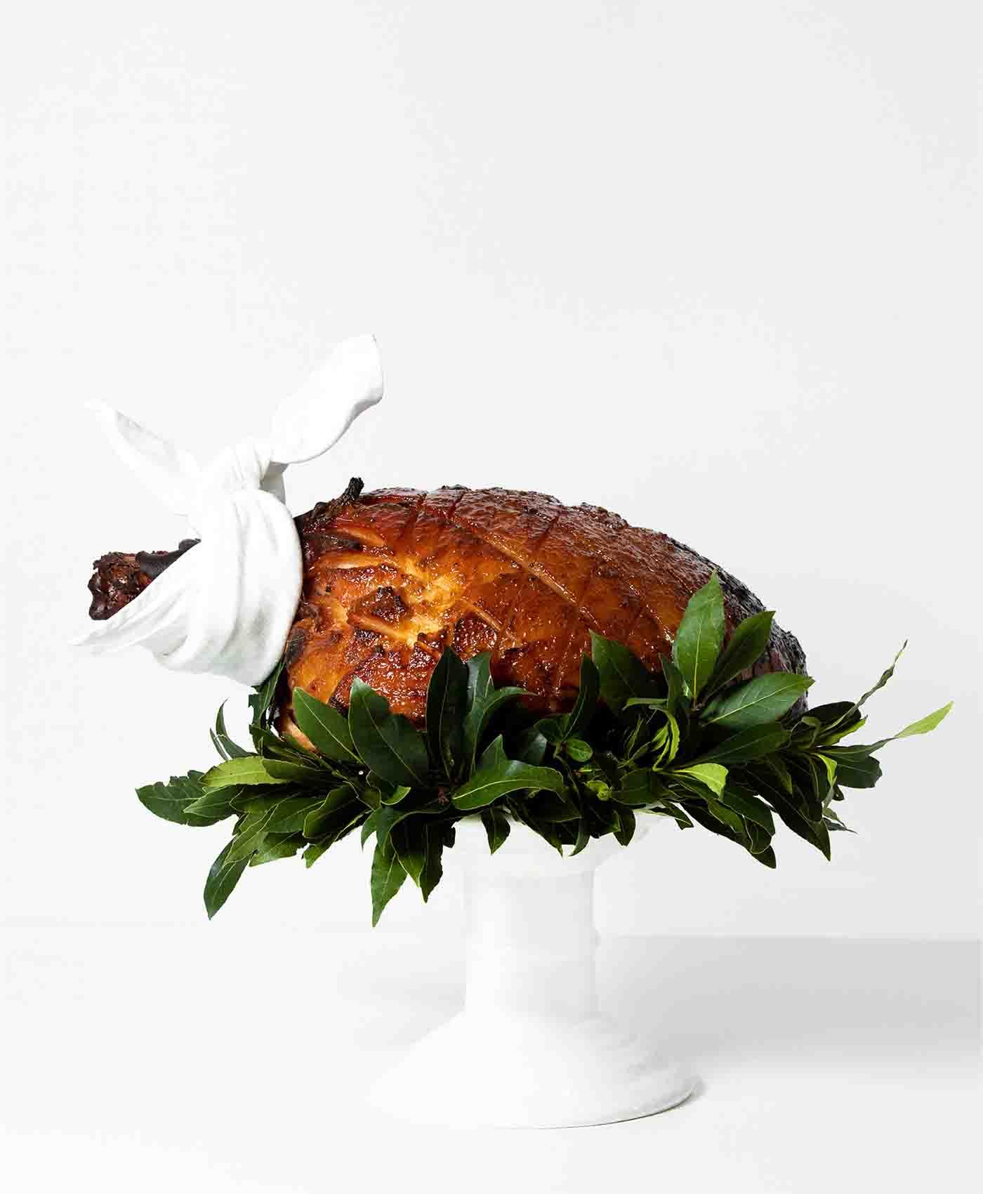 Peter Rowland Christmas Ham On Stand