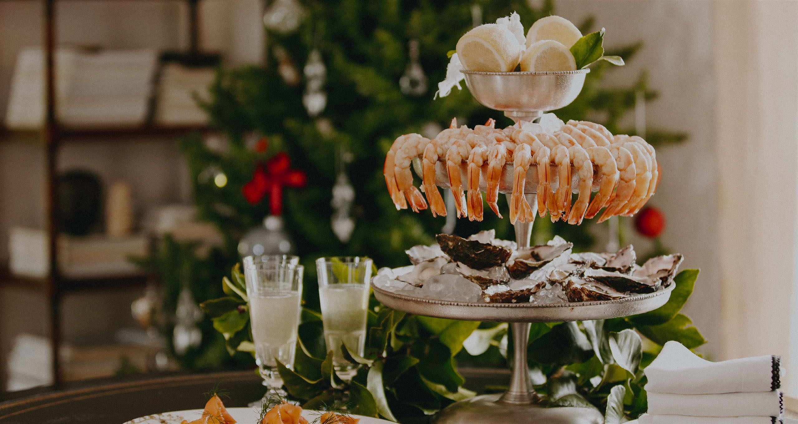 Peter Rowland Christmas Seafood Tower Table 2019