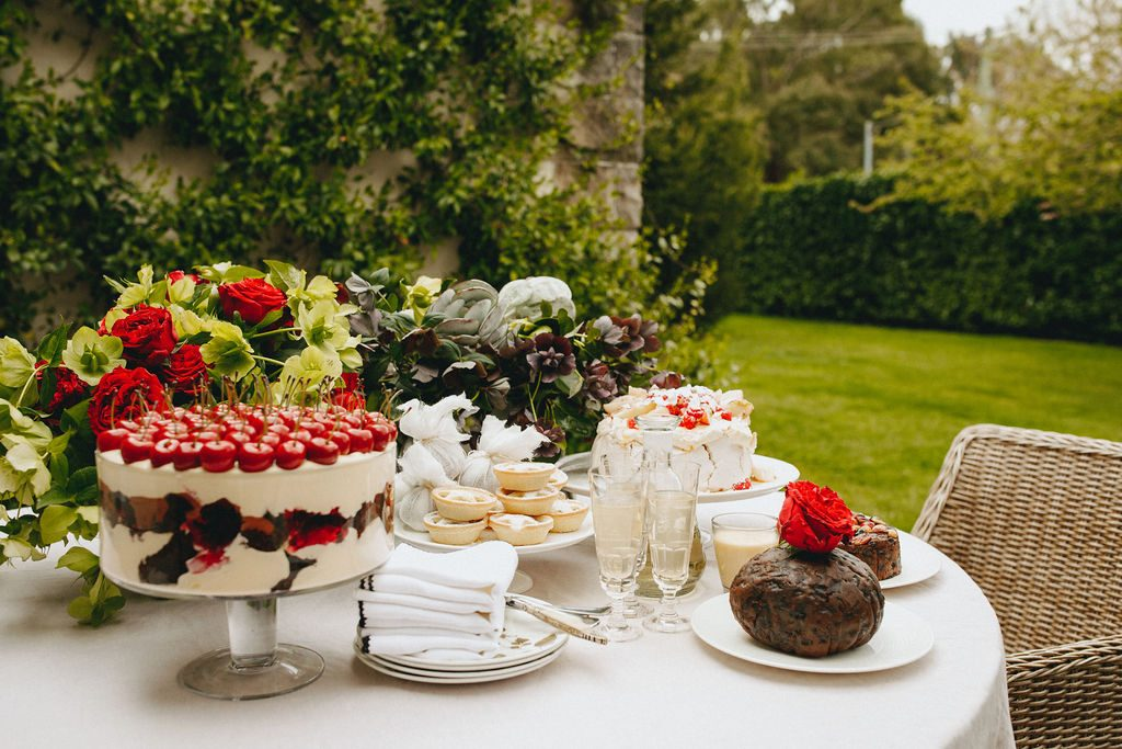 Peter Rowland Festive Feasting Dessert Outdoors