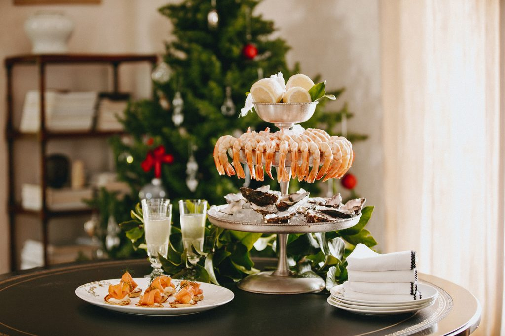 Peter Rowland Christmas Festive Feasting Seafood Tower Indoors