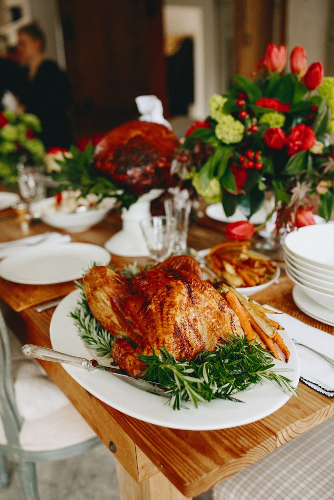 Peter Rowland turkey with pancetta, onion and sage or dried wild fig and macadamia