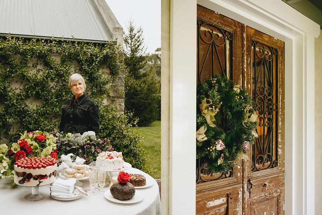 PETER ROWLAND MELISSA PENFOLD DESSERT AND FONT DOOR CHRISTMAS WREATH