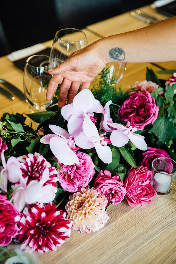 Peter Rowland x Flower Jar Interview Blog Wedding Florals On Table