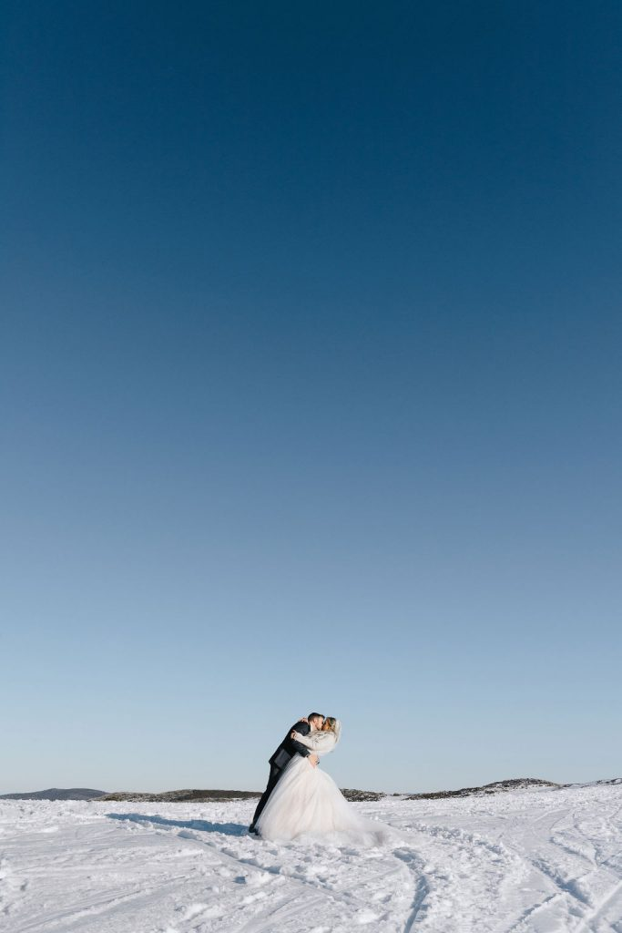 Wedding Photography In The Snow Mountains